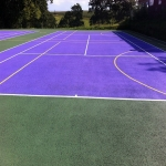 Sports Court Colour Coating in Herefordshire 7