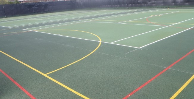 Sports Court Resurfacing in Powys