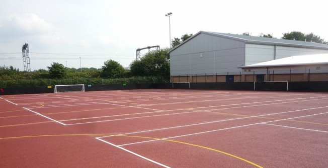 Sports Court Repair in Caerphilly