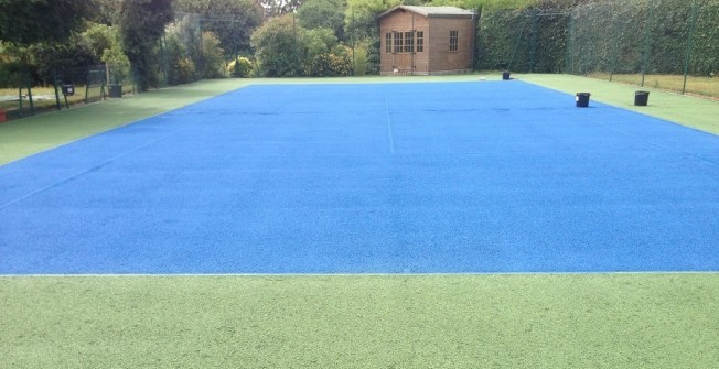 Colour Coating Sports Court in Northamptonshire